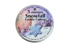 5 Miniature Snowfall Cookie Cutters